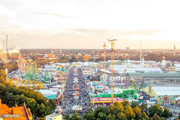 Germany, Munich, view to Oktoberfest from above