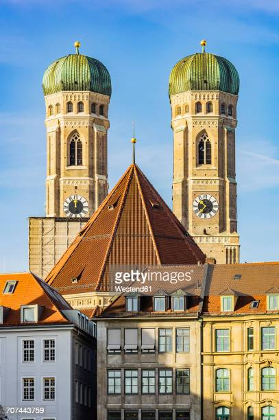 Germany, Munich, view to spires of Cathedral of Our Lady