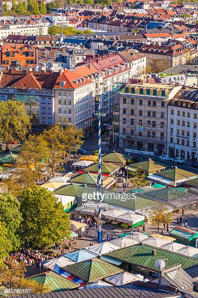 Germany, Munich, view to Viktualienmarkt from above