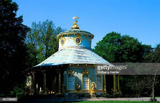 Germany Near Berlin Potsdam Sanssouci Castle Summer Residence Of Frederick The Great Park Chinese House