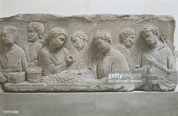 Germany NeumagenDhron Funerary stele depicting a scene of tax payment
