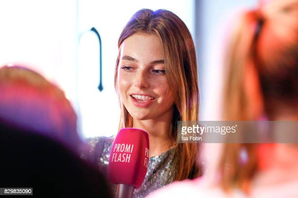 Germany next topmodel winner Celine Bethmann during the Urban Decay Naked Heat Launch at House of weekend on August 10 2017 in Berlin Germany