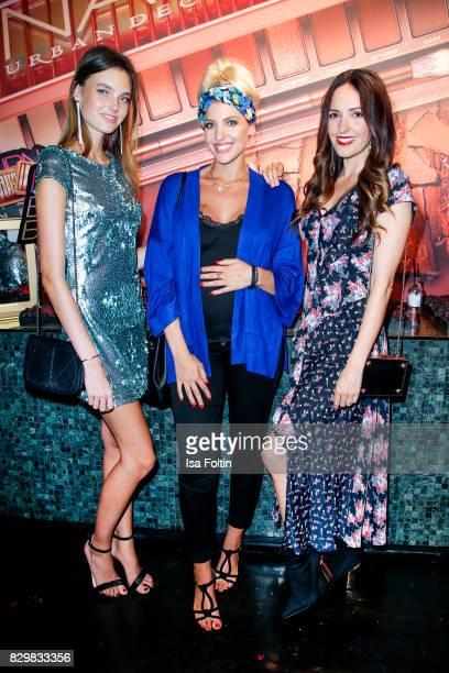 Germany next topmodel winner Celine Bethmann model and StyleInfluencer Sarah Nowak and German presenter Johanna Klum during the Urban Decay Naked...
