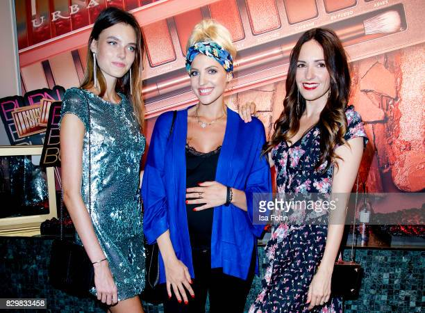 Germany next topmodel winner Celine Bethmann model and StyleInfluencer Sarah Nowak and German presenter Johanna Klum during the Urban Decay Naked...