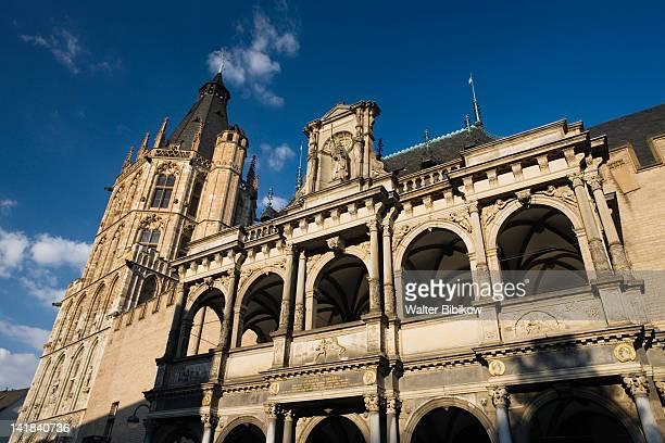 germany, nordrhein-westfalen, cologne, cologne town hall, rathaus - cologne photos et images de collection