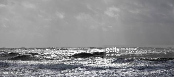 Germany, North Friesian Islands, Sylt, stormy North Sea
