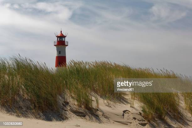 germany, north frisia, sylt, lighthouse list east - leuchtturm stock-fotos und bilder