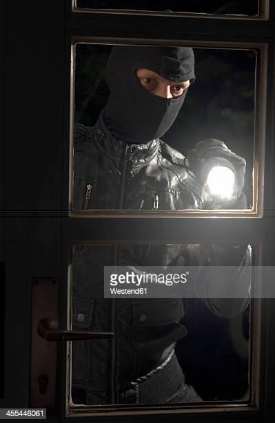 Germany, North Rhine Westphalia, Burglary breaking into family home at night