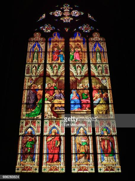Germany North Rhine Westphalia Cologne Cologne Cathedral The Bavarian Stained Glass Windows The Pentecost Window