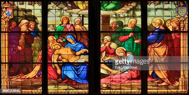 Germany North Rhine Westphalia Cologne Cologne Cathedral The Bavarian Stained Glass Windows Window of the Lamentation