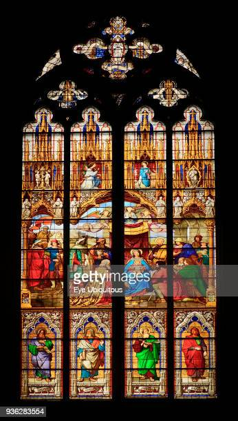 Germany North Rhine Westphalia Cologne Cologne Cathedral The Bavarian Stained Glass Windows Window of the Adoration of the Magi