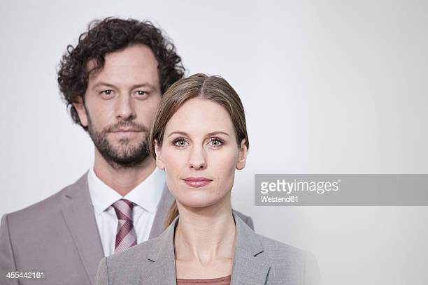 Germany, North Rhine Westphalia, Cologne, Portrait of businesscouple, close up
