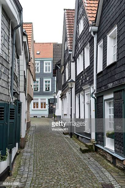 germany, north rhine westphalia, essen kettwig, view of cityscape - essen germany stock pictures, royalty-free photos & images