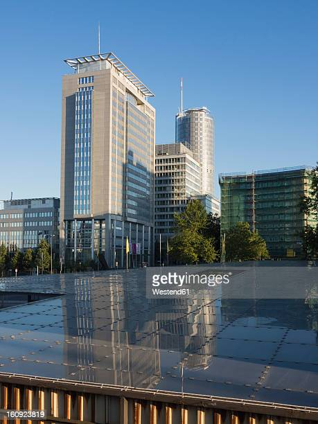 germany, north rhine westphalia, essen, view of skyline - essen germany stock pictures, royalty-free photos & images