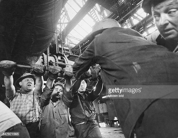 Germany North RhineWestfalia Ruhr Steelworker 1969