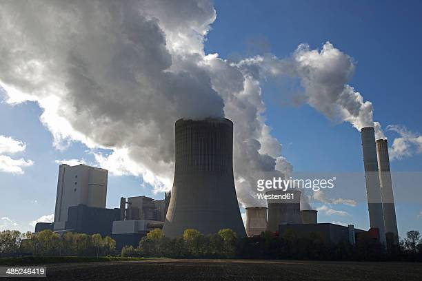 germany, north rhine-westphalia, bergheim-niederaussem, niederaussem power station - coal fired power station stock photos and pictures