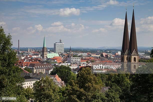 germany, north rhine-westphalia, bielefeld, city view - bielefeld stock pictures, royalty-free photos & images