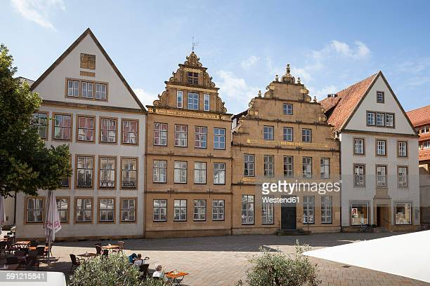 germany, north rhine-westphalia, bielefeld, row of patrician houses - bielefeld stock pictures, royalty-free photos & images