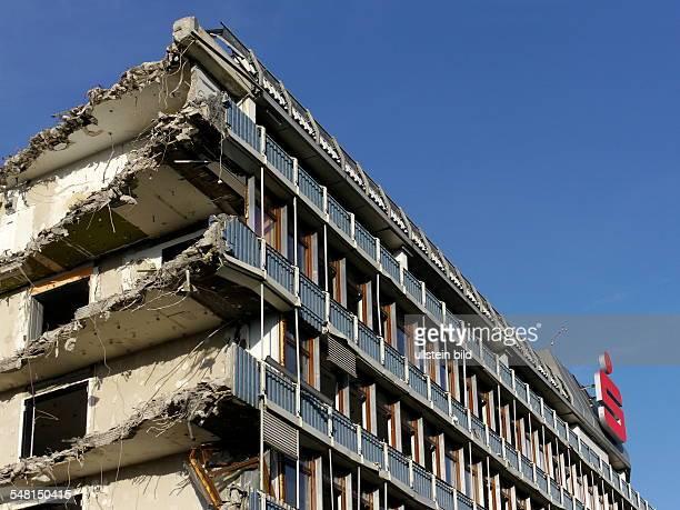 Germany North RhineWestphalia Bonn deconstruction of the headquarters of the savingsbank Sparkasse KoelnBonn at Friedensplatz