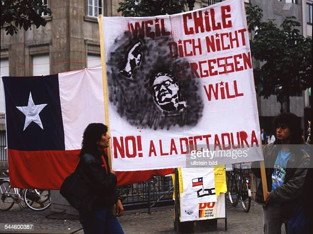 Germany North RhineWestphalia Bonn protests against the dictatorship of Augusto Pinochet in Chile
