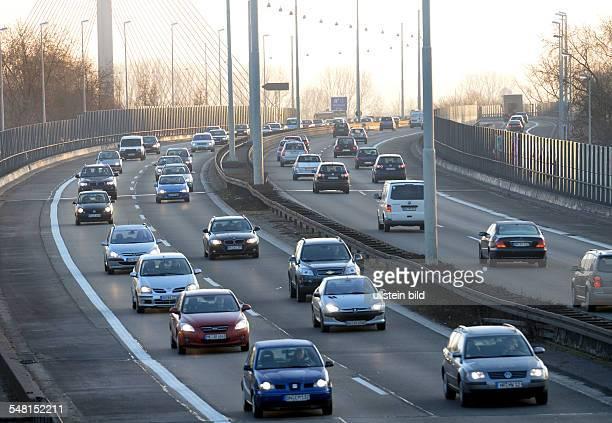 Germany North Rhine-Westphalia Bonn - Traffic on a motorway in the morning