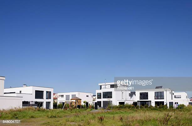 Germany, North Rhine-Westphalia, Cologne, modern detachted one-family houses at development area