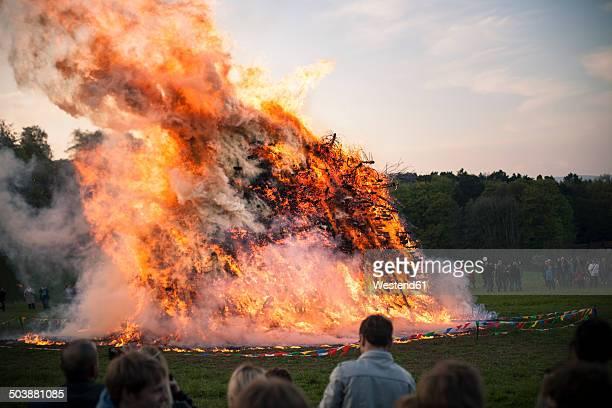 Germany, North Rhine-Westphalia, Detmold, Easter fire
