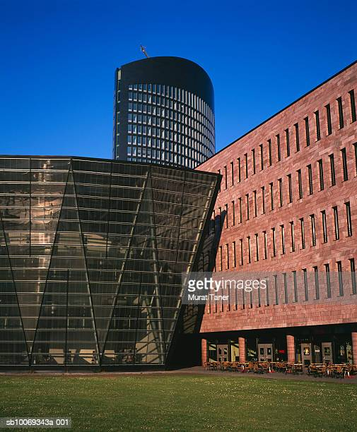 germany, north rhine-westphalia, dortmund, city library and modern office building - dortmund city stock pictures, royalty-free photos & images