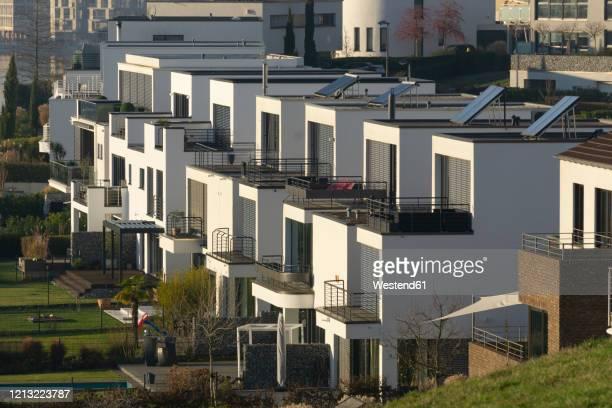 germany, north rhine-westphalia, dortmund, modern buildings at phoenix see lake - dortmund stad bildbanksfoton och bilder