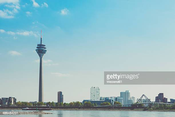 Germany, North Rhine-Westphalia, Duesseldorf, TV tower and Media harbour