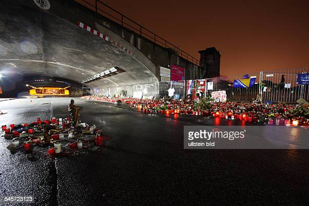 Germany North RhineWestphalia Duisburg catastrophe during the Loveparade 2010 in Duisburg 21 people died because of a panic quickly spread scene of...