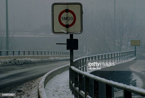 Germany North Rhine-Westphalia Essen - Smog alarm in the Ruhr area, Essen city
