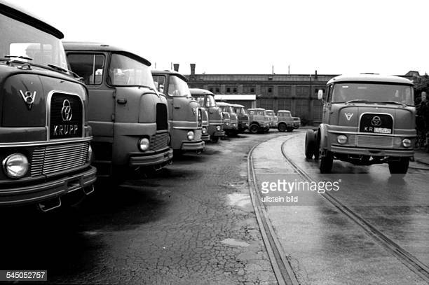 Germany North RhineWestphalia Essen trucks at the yard of the former truck factory of the company Krupp