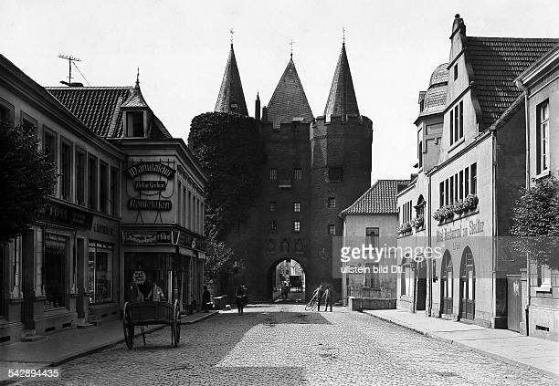 Germany North RhineWestphalia Goch in the Lower Rhine region Steintor city gate in the Old town date unknown around 1930 photo by...