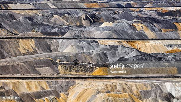 germany, north rhine-westphalia, inden surface mine, overburden - coal mine stock pictures, royalty-free photos & images