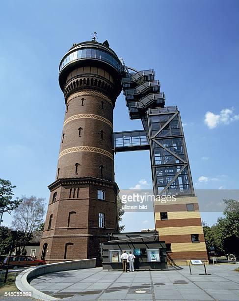 Germany North RhineWestphalia Muelheim an der Ruhr MuelheimStyrum water tower Aquarius Water Museum Route of Industrial Heritage