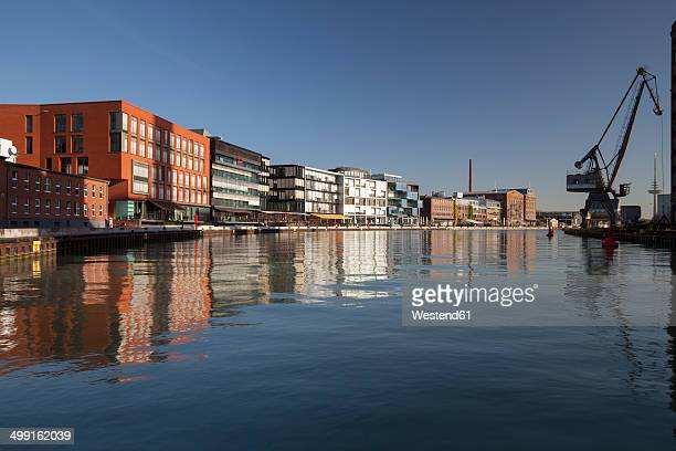 germany, north rhine-westphalia, muenster, harbour - ミュンスター市 ストックフォトと画像