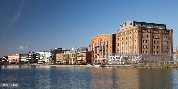 germany, north rhine-westphalia, muenster, harbour, warehouse, art gallery - ミュンスター市 ストックフォトと画像