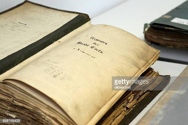 Germany North RhineWestphalia Muenster restoring documents after the collapse of the Stadtarchiv Koeln at LWLArchivamt fuer Westfalen des...