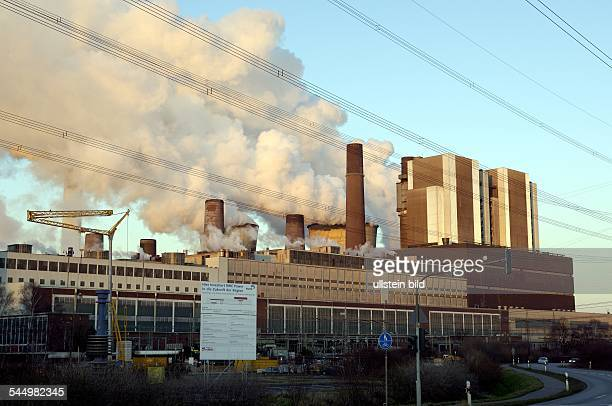 Germany North RhineWestphalia Weisweiler Coal power station Weisweiler of RWE AG
