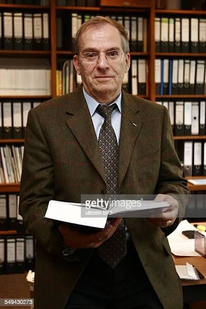 University of Technology Communication Networks Professor Dr Ing Bernhard Walke in his office