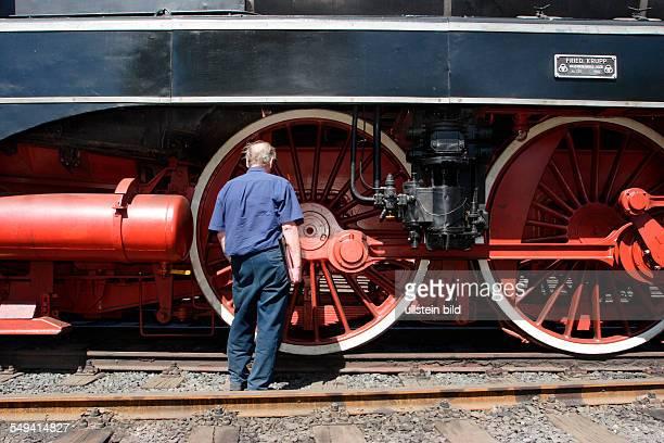 Germany, NRW, Bochum: Railway museum in Bochum. A steam locomotive from 1956 of the Friedrich Krupp company