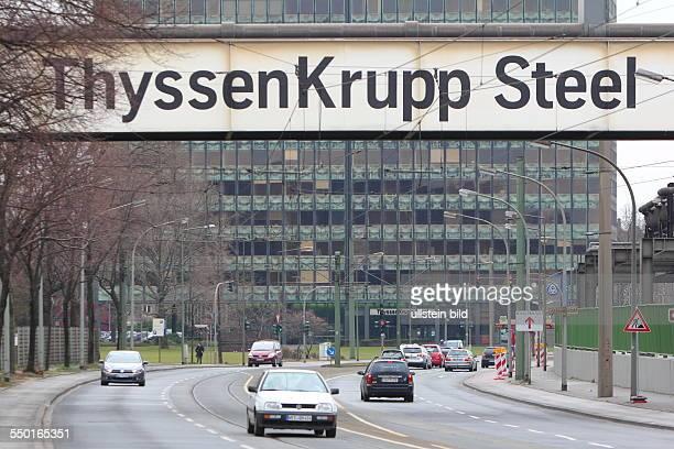 Germany, NRW. Duisburg: ThyssenKrupp Steel TKS headquarter in Duisburg Bruckhausen