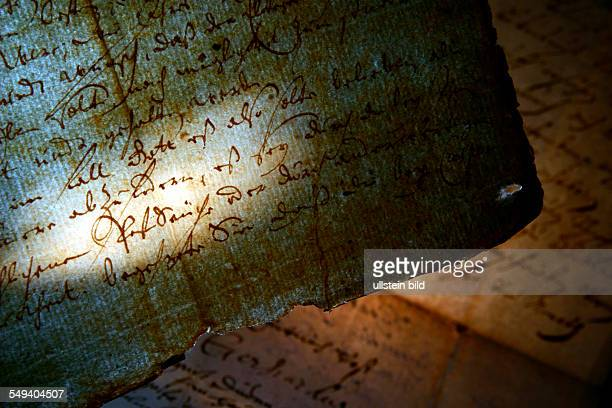 Socalled plague wills from 1666 from the Protestant parish Werden People who suffered from plague could make their will in front of witnesses