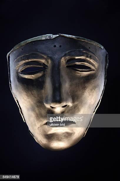 Copy of an iron mask of a Roman face helmet
