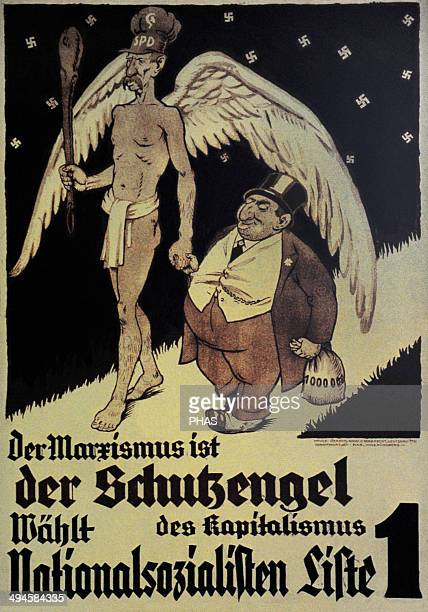 Germany NSDAP poster for the Reichstag election November 1932 Marxism is the guardian angel of capitalism Vote National Socialist
