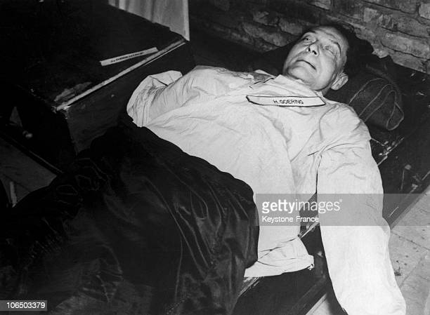 Germany, Nuremberg. Hermann Goering'S Body After His Suicide, On October 15Th 1946.