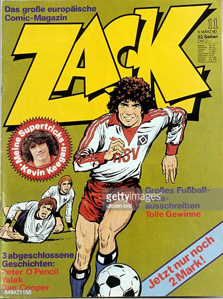 Gasometer exhibition The ball is round ACK comic edition 11/1980 Cover photo Kevin Keagan soccer player