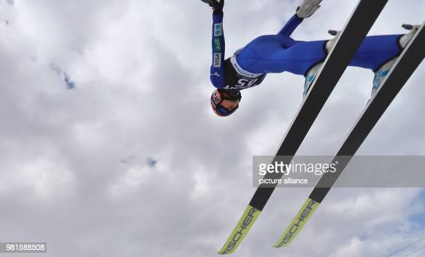 Weltcup 25 March 2018 World Cup Ski Jumping Women Yuki Ito from Japan on her first jump Photo KarlJosef Hildenbrand/dpa