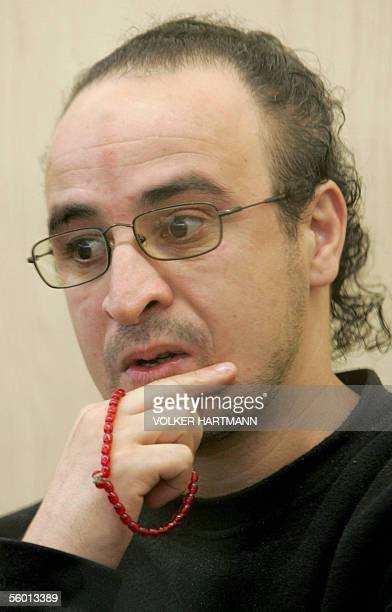 Picture showing Algerian national Djamel Moustfa one of four defendants in the so called AlTahwid trial at a Duesseldorf court 26 October 2005 The...